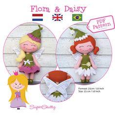 PDF patroon Flora en Daisy vilt patroon voor door SuperSkattig