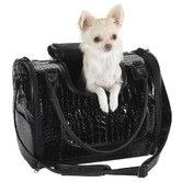 Found it at Wayfair - Croco Small Dog Carrier in Black