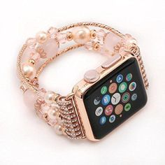 New Hot! Exclusive Fashion Beautiful Beaded Bracelet Strap Band For Apple Watch Ninasill Band For Apple Watch Series 2/1 38mm (Multicolor B)