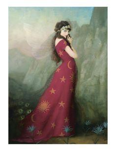 Artwork by Stephen Mackey Stephen Mackey, Fairy Land, Fairy Tales, Illustrator, Mystique, Beautiful Fairies, Art For Art Sake, Whimsical Art, Stars And Moon