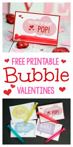 Free Printable Bubble Valentines