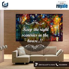 Never decorate your house with the sceneries of war, owl or any tragic paintings, as they invite negative vibes and are evil. #GalaxyGroup #RealEstate #Homes #CommercialProjects #RealEstateProject #NoidaProperty #ResidentialProject #GalaxyRoyale #GalaxyGroupFlats #GalaxyPlaza #GalaxyVegaInNoida