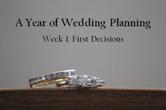 Wedding Planning Timeline and Guide. A Year of Wedding Planning from Kasper Creations. Week One.