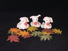 Halloween fairy garden ghost dog Glow in by MacTiereLunaCreation