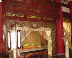 Bedroom in Forbidden City, Beijing, China Chinese Architecture, Interior Architecture, Interior Design, Royal Bedroom, Chinese Interior, Modern Bedroom Furniture, Asian Decor, Cover, House