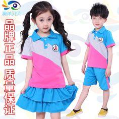 bee411e9f Cheap 2014 verano niña establece unisex falda corta de la manga deportes  ropa de los niños