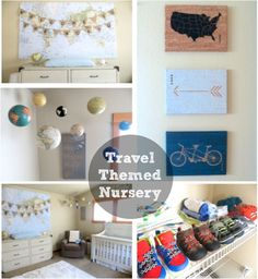 Our Travel and Adventure Themed Nursery - Glitter and Dust