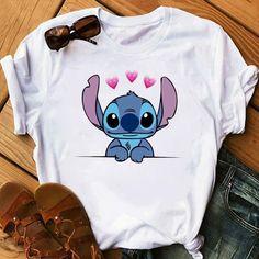Graphic Women's Cartoon Pocket Funny T-Shirt Lilo & Stitch Print T-Shirt Casual Top Casual Tops, Casual Shirts, Tee Shirts, Cheap Shoes Online, Dress Shirts For Women, Wholesale Clothing, Shoes Wholesale, Blue Fashion, Denim Fashion