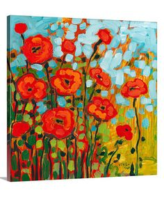 Another great find on #zulily! Red Poppy Field Gallery-Wrapped Canvas #zulilyfinds