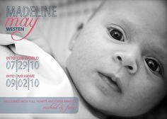 custom adoption announcement  into the world into our by pipeup, $15.00