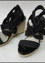 Sandały na koturnie gumki NAOMI