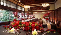Table setting, Taiko-en(太閤園, 淀川邸) 料亭・和婚 テーブルの装飾