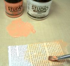 TUTORIAL - ingenious idea for making your own coloured glazes by Claudine Hellmuth (uses acrylic paint & matte medium) I've done this and for a cloudy look use a little gesso mixed in. Diy Stamps, Stencil, Minis, Art Journal Techniques, Art Journal Pages, Art Journaling, Collage Artists, Craft Tutorials, Craft Ideas
