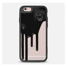 iPhone 6 Plus/6/5/5s/5c Case - BLACK DRIP (€36) ❤ liked on Polyvore featuring accessories and tech accessories
