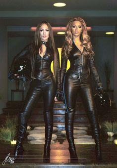 4e74b46da2174a Lederlady ❤ Fierce Women, Leather Dresses, High Knees, Leather Catsuit,  Leather Pants