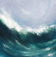 Sennen Wave © and IP Kate Pettitt. Image is not to be reproduced without prior written permission by the artist. Caption, Landscapes, Waves, Artist, Image, Painting, Paisajes, Scenery, Artists