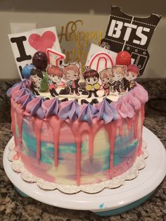 Kpop BTS Cake Army's Birthday, Birthday Ideas, Bts Cake, Army Cake, Korean Cake, Bts Birthdays, Sweet 16 Cakes, Number Cakes, Pretty Cakes