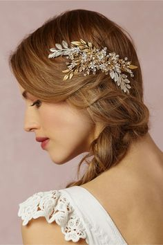 love the hair down accented with a gorgeous accessory