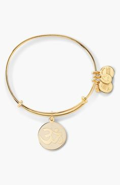 Alex and Ani 'Om' Expandable Wire Bangle available at #Nordstrom Gold