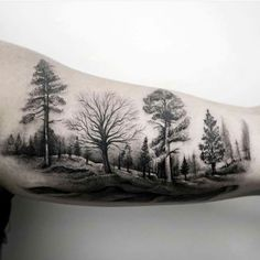 Tattoo Wald Bäume Natur Tree