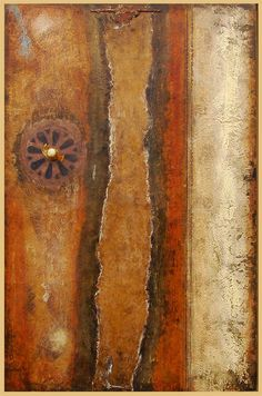 Wallwork - No. I Gretchen Papka encaustic, paper, oil pigments with found materials on wood panel in floater frame