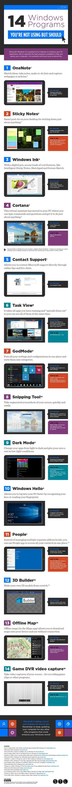 14 #Windows Tools to Help You Run Your #Business More Efficiently #Infographic