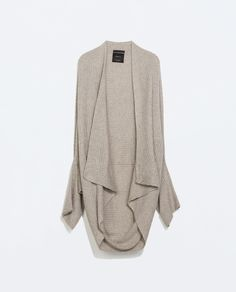 ZARA - SPECIAL PRICES - RIBBED WRAP CARDIGAN