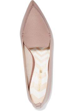 Nicholas Kirkwood - Beya Textured-leather Point-toe Flats - Pastel pink - IT36.5