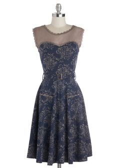 1950s Style Dresses and Clothing - Blogging Molly Dress in Navy Floral. Stretchy material makes this work well as a maternity dress.  $63.99