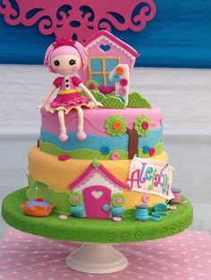 Amazing Lalaloopsy birthday cake!  See more party ideas at CatchMyParty!   #girlparty