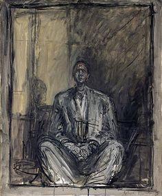 Alberto Giacometti, Jean Genet, 1954-1955, oil on canvas, 73 x 60 cm, ...    artlex.com