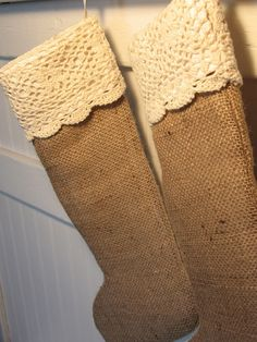 Burlap stockings home-made