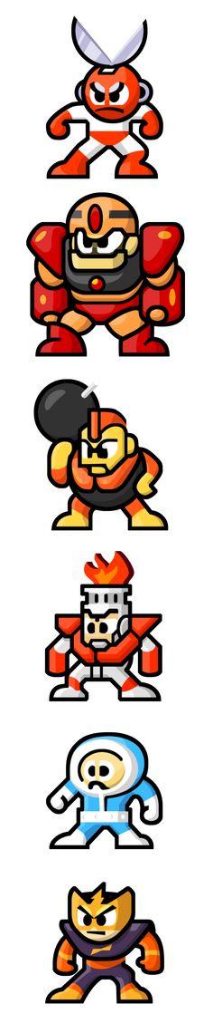 MegaMan 'Sprites'-Bosses of 1 by WaneBlade.deviantart.com on @DeviantArt