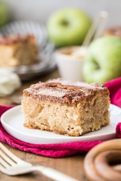 How to make the BEST, moist, cinnamon sugar apple cake! Just one bowl, made from-scratch, recipe includes video! Apple Cake Recipes, Apple Desserts, Fall Desserts, Cookie Recipes, Dessert Recipes, Potluck Desserts, Bread Recipes, Baking Recipes, Cinnamon Sugar Apples