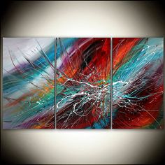 Large Wall Art ABSTRACT PAINTING Acrylic Wall Decor Abstract Paintings Landscape Art Contemporary Art, Wall Hanging