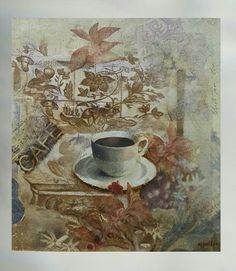 Colagem e pintura com café solúvel sobre papel- Marília Vidigal Carneiro