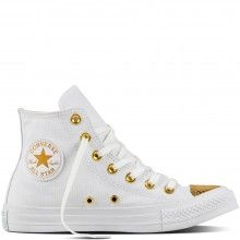 282a6d8fa5 Converse bílo-zlaté dámské kotníkové tenisky CTAS HI White Gold - 2090 Kč  Converse