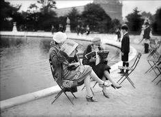 Paris. Bassin des Tuileries. Vers 1925.