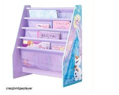 Disney Frozen Sling Bookcase Girls Bedroom Storage