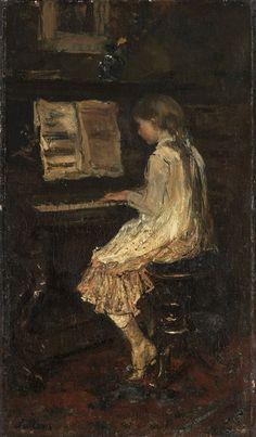 Jacob Maris, Meisje aan de piano, 1879, olieverf op doek, 36 x 22 cm, Rijksmuseum, Amsterdam