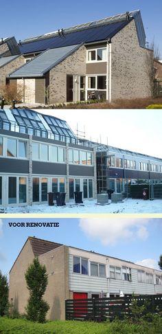 Activehouse Renovatie Poorters van Montfoort (consortium BAM - Nieman) - kosten 130.000 excl - Maatregelen: Gevelvervanging Rc 3,5 | dakvervanging Rc 4,5 | Vloervervanging Rc ? ivm betonrot | Kierdichting| PV-panelen | Natuurlijke ventilatie CO2 gestuurde roosters | Grond/ waterwarmtepomp (100 m diep) | Lage temperatuurverwarming via vloerverwarming | Passieve zonne energie via vergrootte ramen | Zonnecollector