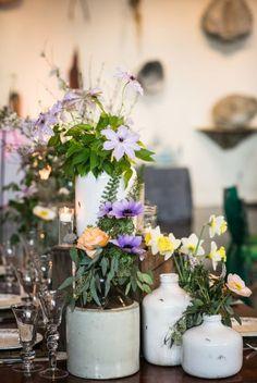 Farmhouse Rustic - love the eclectic vibe! @Dian Tjandrawinata Tjandrawinata Hallford Princeton flowers.  Thanks MK Photo.