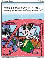 trick to driving on ice