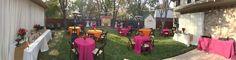 Backyard wedding GLAM! Pink and Orange