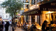 top 18 things to do in france - Dining at Bistrot Le Saint Emilion in the Latin Quarter.