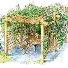 pergola garten Coping With Heat in the Garden: Drought-Tolerant Crops, Resilient Perennials and More - Homesteading and Livestock - MOTHER EARTH NEWS Diy Pergola, Building A Pergola, Deck With Pergola, Wooden Pergola, Small Pergola, Cheap Pergola, Building Plans, Covered Pergola, Attached Pergola