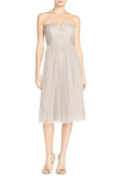 Jenny Yoo 'Maia' Convertible Tulle Tea Length Fit & Flare Dress available at #Nordstrom