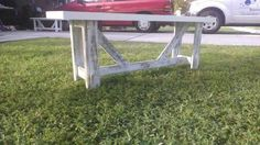 Wedding guest book benches on Etsy, $135.00