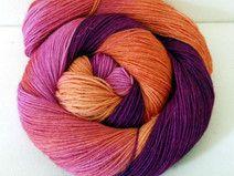 """""""Peach Blush"""" handgefärbte Sockenwolle 4-fach"""