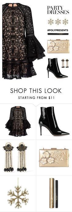 """""""#PolyPresents: Party Dresses"""" by catchsomeraes ❤ liked on Polyvore featuring Alexis, Gianvito Rossi, Etro, Rimen & Co., Parlane, Stila, contestentry and polyPresents"""